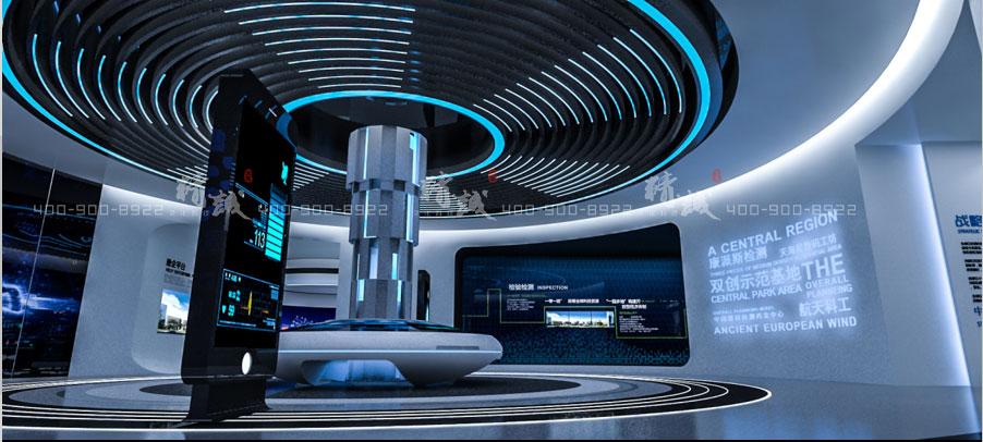西安沣东新城科技园展览馆设计四大板块