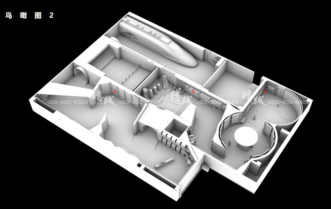 企业展厅设计 中铁北京工程局历史文化展厅设计效果图